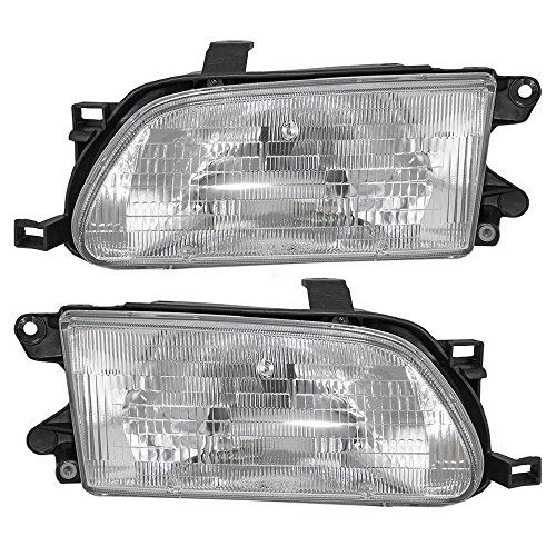 Driver and Passenger Headlights Headlamps Replacement for Toyota 81150-16550 - Headlamp Headlight Tercel Toyota