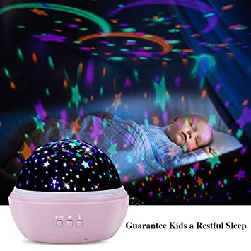 Tekhome 2019 New Star Ocean Projector Night Light For Kids Bedroom Baby Light Projector On Ceiling Kid Toys For 3 12 Year Old Girls New Mom Gifts
