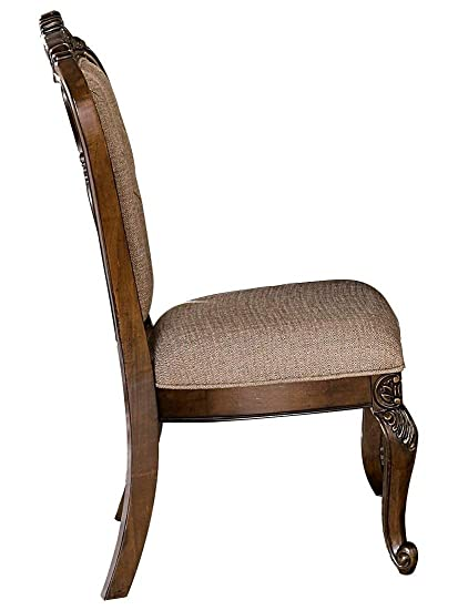 Ordinaire Amazon.com   Bautistia Italian Country 2 Dining Side Chair In Light Brown  Fabric   Chairs