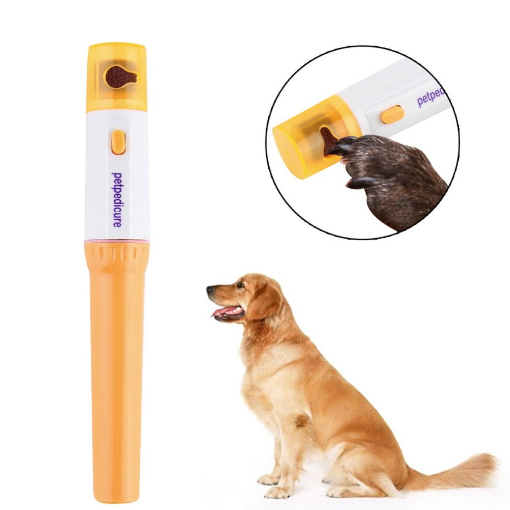 IPDShop Electric Painless Pet Nail Clipper Dogs Cats Paw Trimmer Cut  Grooming