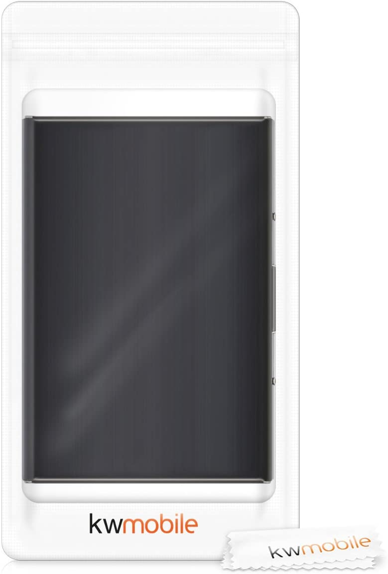 Etui pour Cartes didentit/é en Aluminium argent/é avec Protection RFID pour Cartes didentit/é ou Cartes de cr/édit kwmobile /Étui pour Cartes Bleues Housse de Protection bloqueur RFID