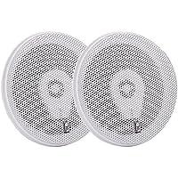 PolyPlanar 6 Titanium Series 3-Way Marine Speakers - (Pair)White