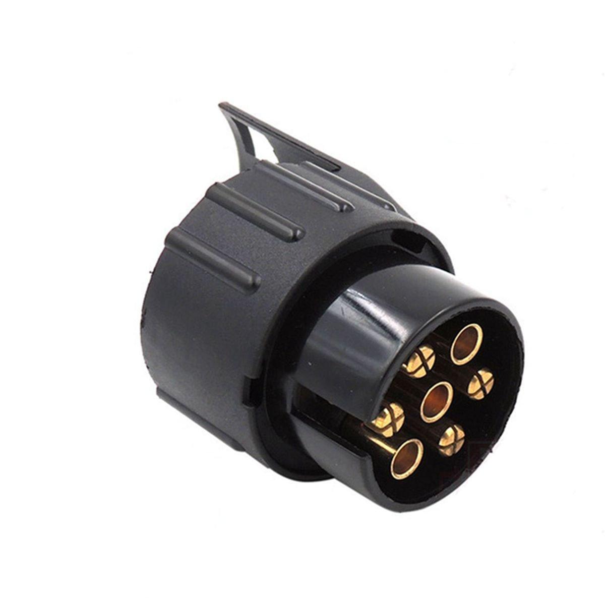 TIANOR Towbar Towing Socket 13 to 7 Pin Plug Adapter Trailer 12V Towbar Caravan Truck Electrical Adapter Converter Car Trailer Adaptor Conversion Adapter Trailer Plug