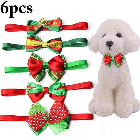 Legendog 6PCS Navidad Perro Arco Corbata Encantador Clasificado ...