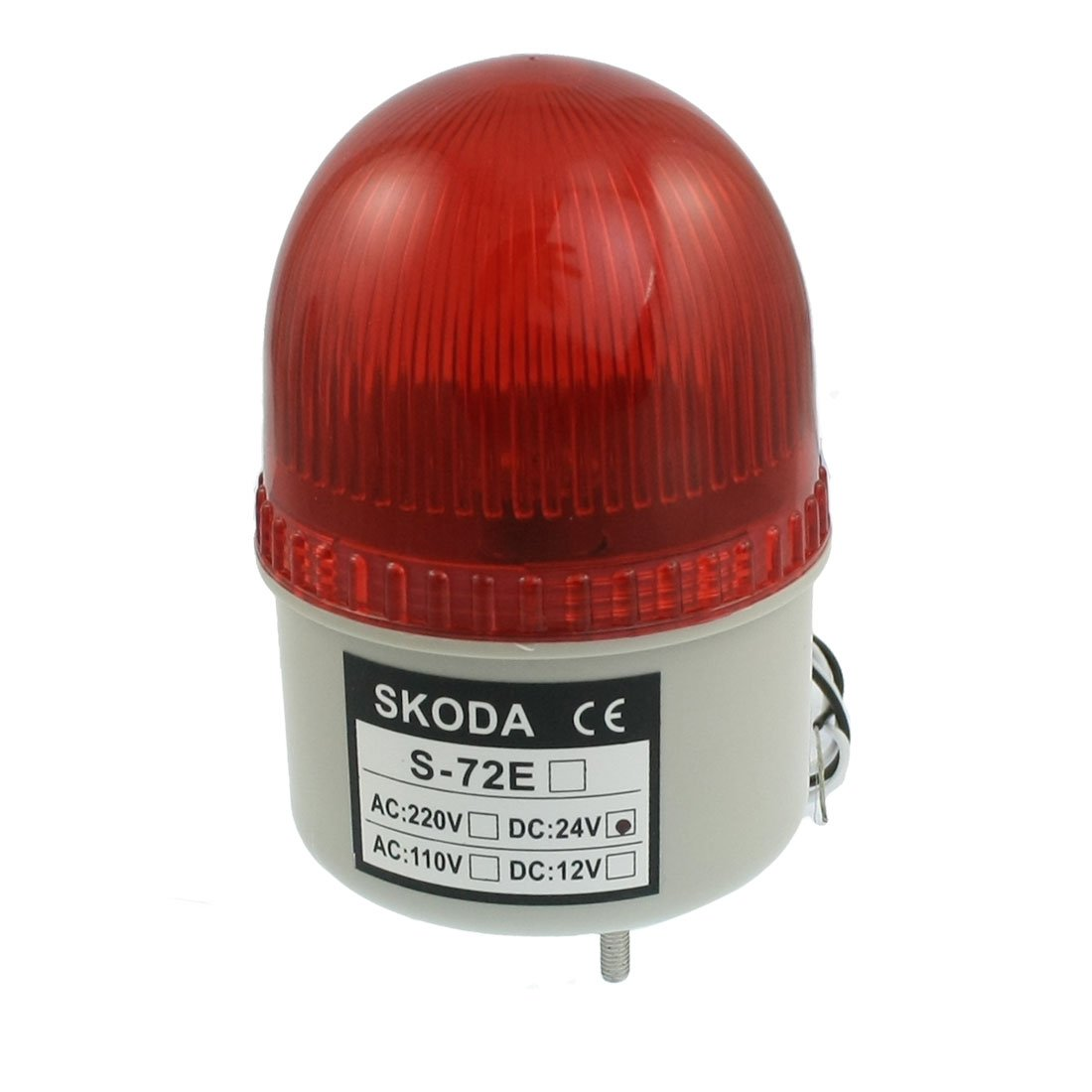 uxcell DC 24V Industrial Signal Tower Red LED Warning Light