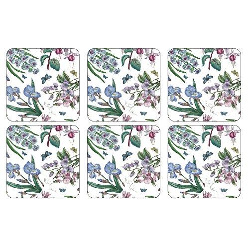 Portmeirion Botanic Garden Coasters with Decorative Boxing, Set of 6