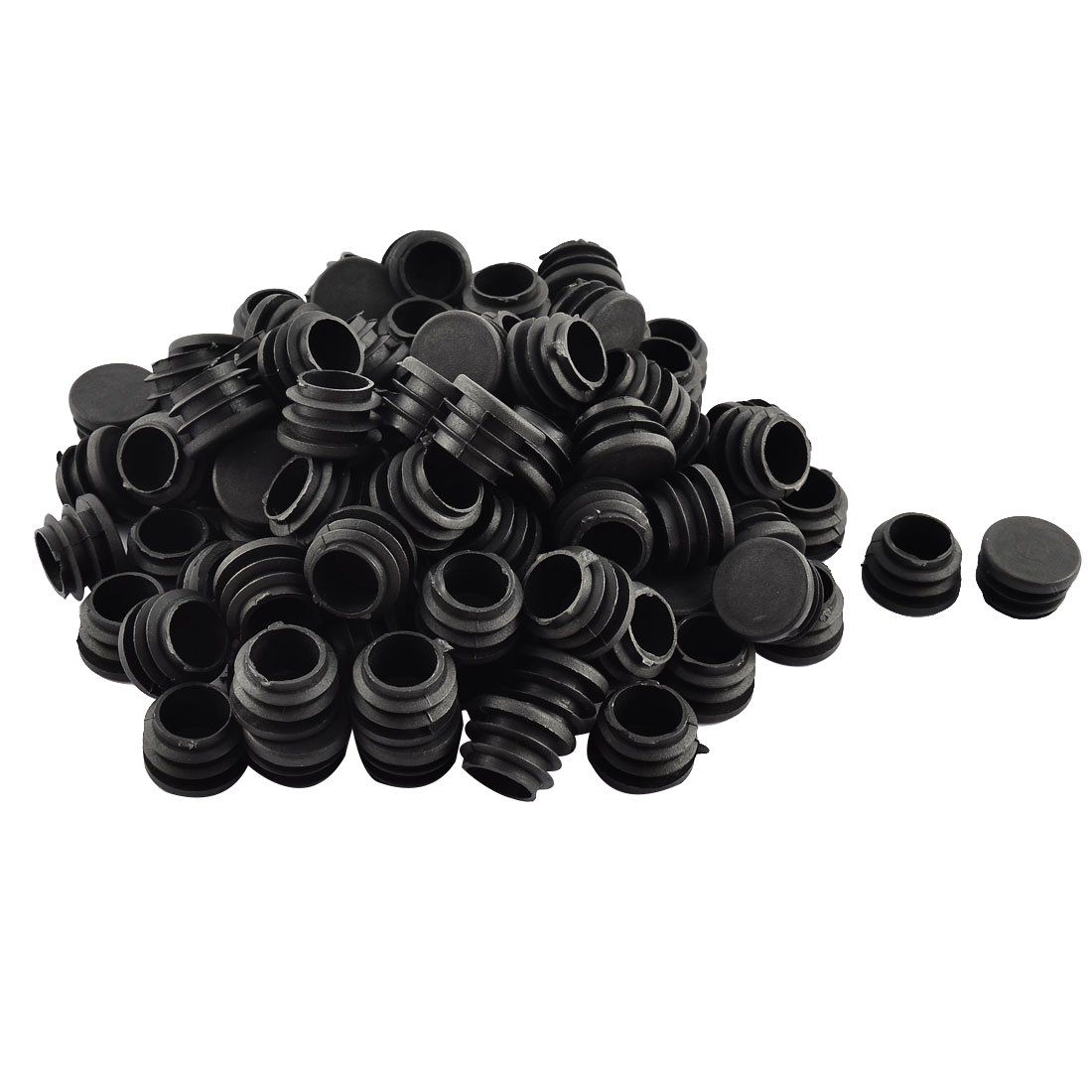 uxcell Plastic Floor Protect Round Chair Leg Pipe Tube Insert Blanking Caps 23mm Dia 100pcs a16062800ux0523