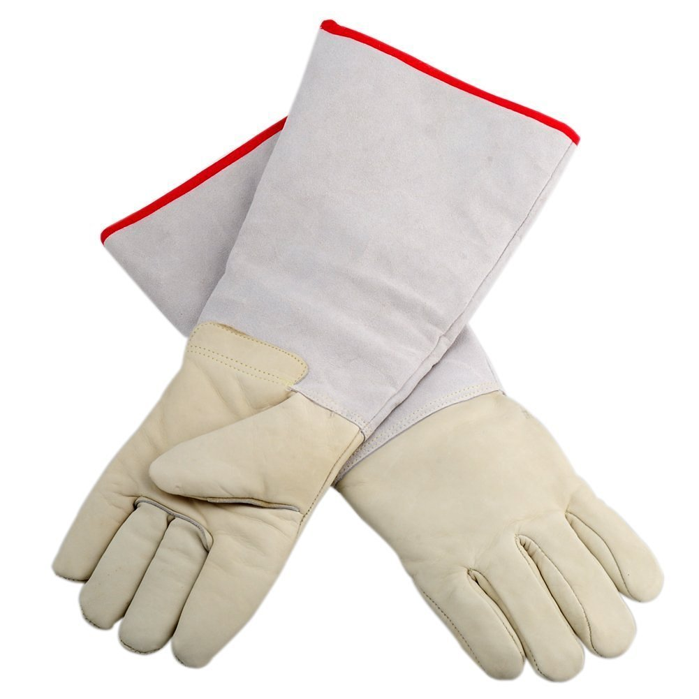 Inf-way Cryogenic Gloves Waterproof LN2 Liquid Nitrogen Protectiove Gloves Cold Storage Frozen Safety Working Gloves (White Large (24.41''/62cm))