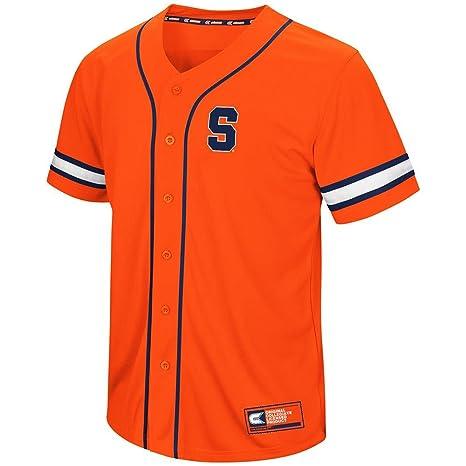 the latest 9d49d 29257 Amazon.com : Colosseum Mens Syracuse Orange Baseball Jersey ...