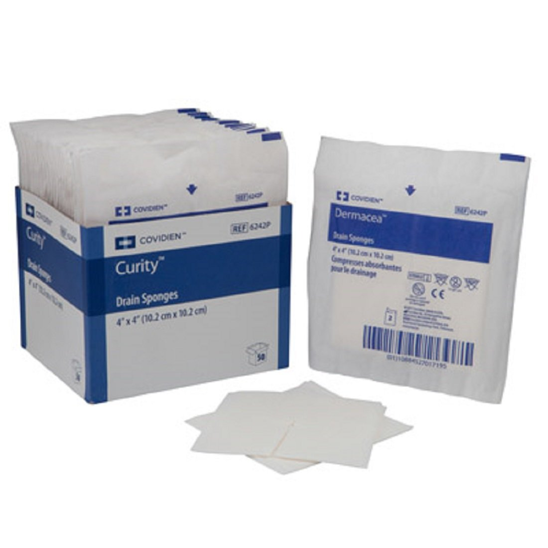 Kendall SORB-IT™ Drain and I.V. Sponges, Sterile, 2'' x 2'', 70/Tray