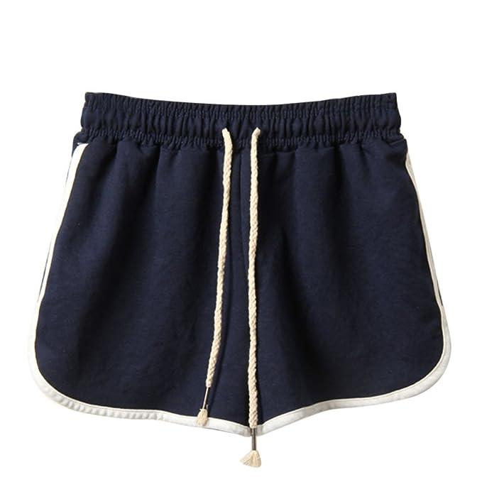 Mujer Pantalones Cortos Verano Mallas Pantalones Patchwork Moda Casual Cortos Pantalones Fitness Mallas Gym Yoga Slim Fit Pants Leggings Cintura Alta ...