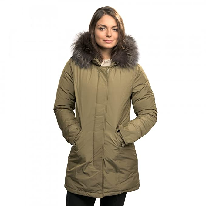 Woolrich - Chaqueta - para mujer Alpha Taupe: Amazon.es ...