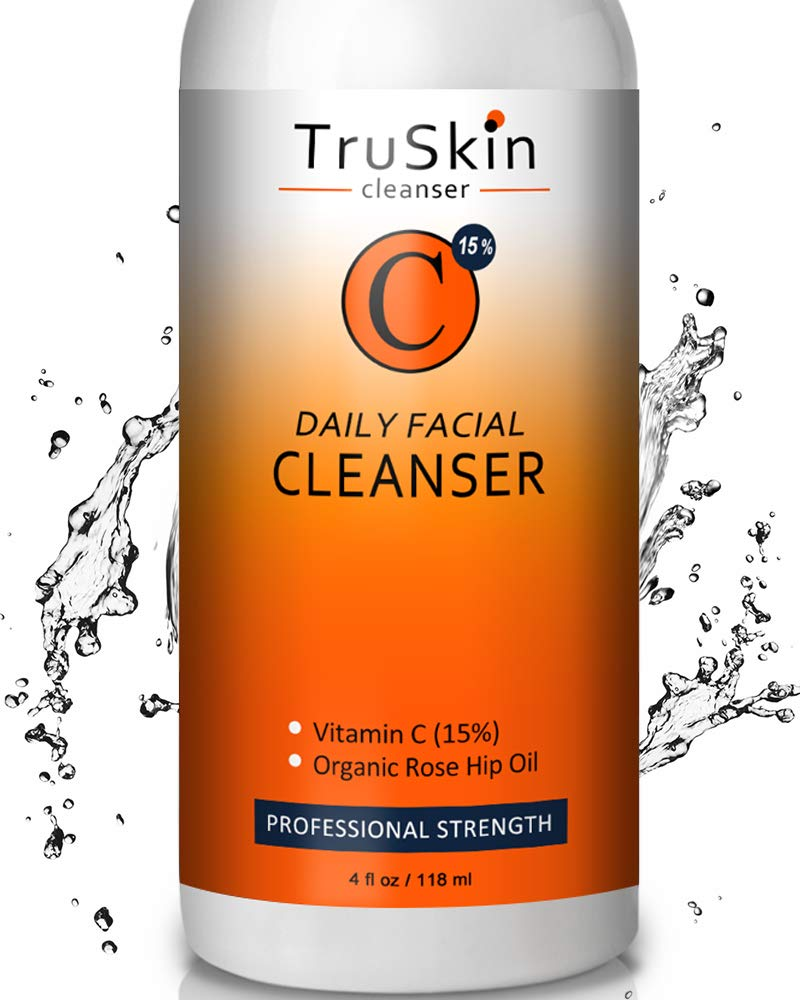BEST Vitamin C Daily Facial Cleanser - Restorative Anti-Aging Face Wash for All Skin Types with 15% Vitamin C, Aloe Vera, MSM & Rosehip Oil: Beauty