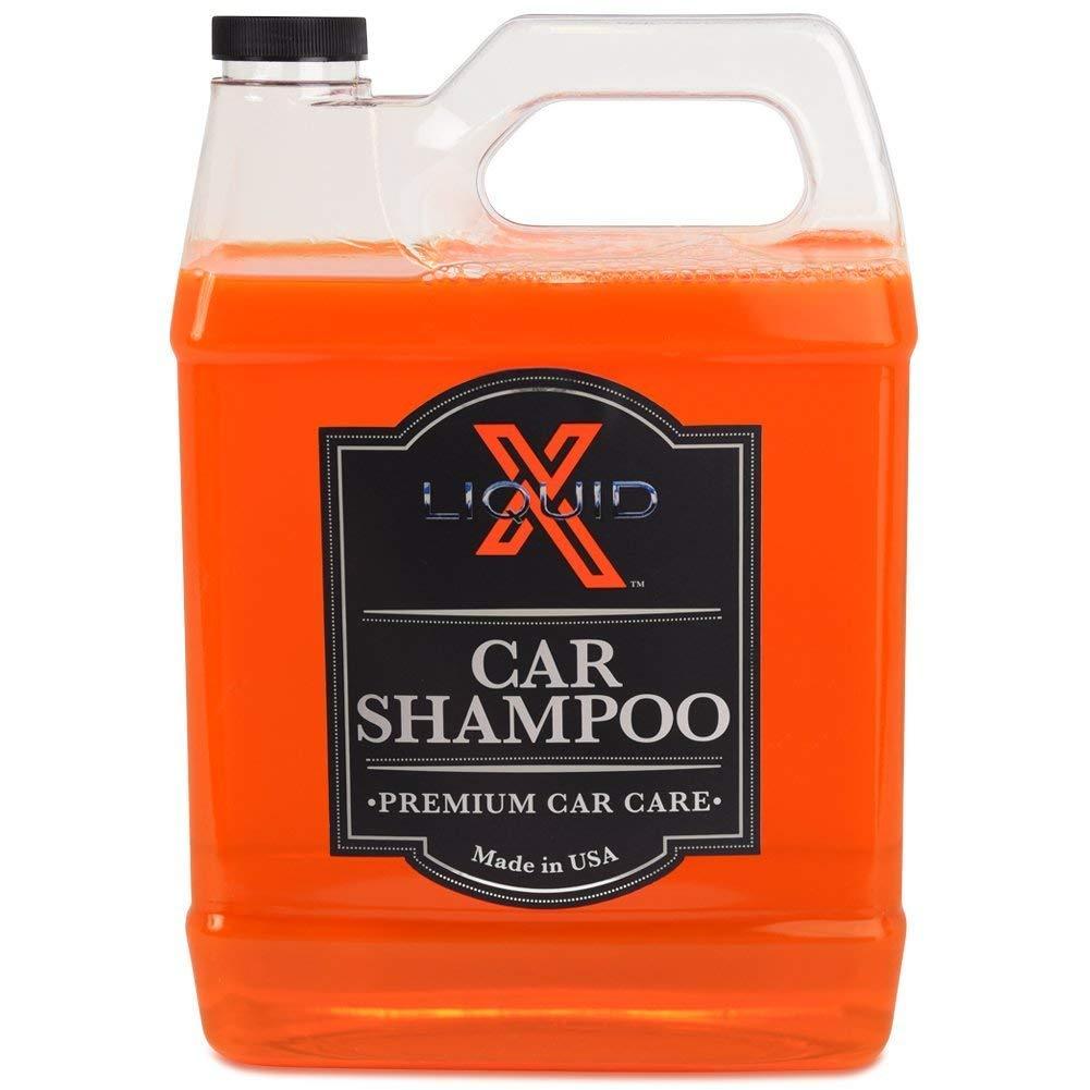 Liquid X Classic Car Shampoo Combo - 16oz Car Shampoo & Premium 9\' x 12\' Wash Mitt Liquid X Premium Car Care