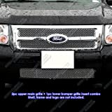 2009 ford escape grille - 2008-2012 Ford Escape Stainless Steel X Mesh Grille Grill Combo Insert