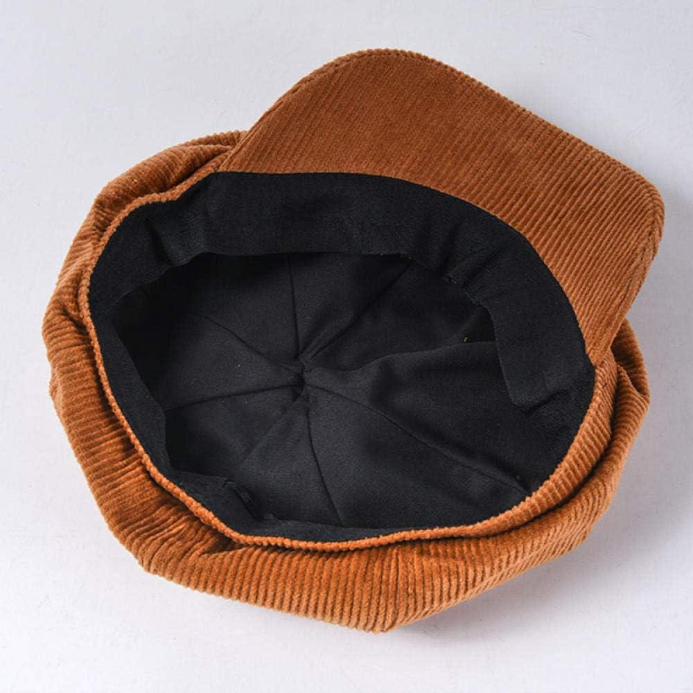 Shining-hat B/érets Femme Lin Casquette Gavroche Bonnet R/étro Unisexe Chapeau de Canard en Velours c/ôtel/é Chapeau de Peintre Vintage