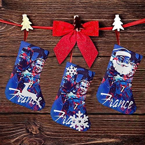 クリスマスの日の靴下 (ソックス3個)クリスマスデコレーションソックス フランスサッカー クリスマス、ハロウィン 家庭用、ショッピングモール用、お祝いの雰囲気を加える 人気を高める、販売、プロモーション、年次式