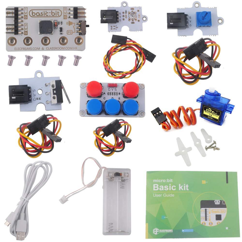 Stemedu for BBC Micro:bit Microbit Basic Kit Without Micro:bit Board, LED Module Crash Module Potentiometer for Classroom Teaching