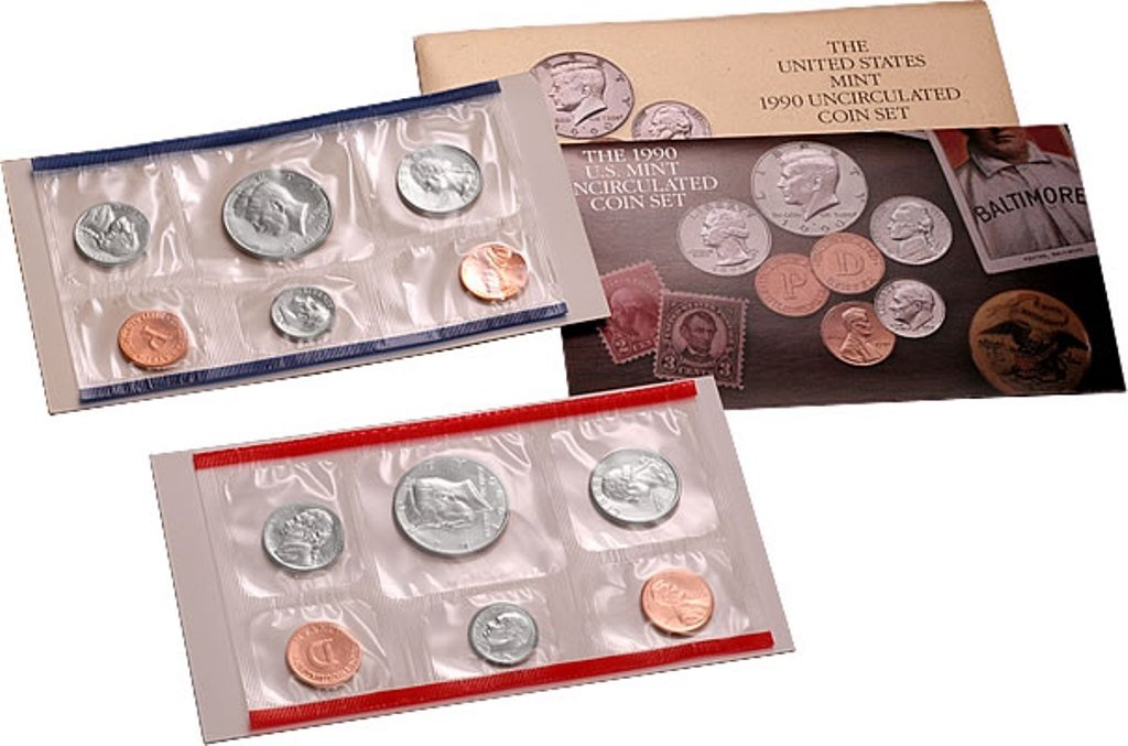 Envelope//COA Complete 1991 P and D Mint Set