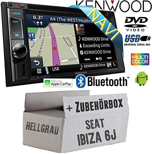Autoradio Radio Kompatibel Mit Kenwood Dnx4180bts 2 Din Navi Bluetooth Cd Dvd Apple Carplay Einbauzubehör Einbauset Für Seat Ibiza 6j 2din Hellgrau Just Sound Best Choice For Caraudio Navigation