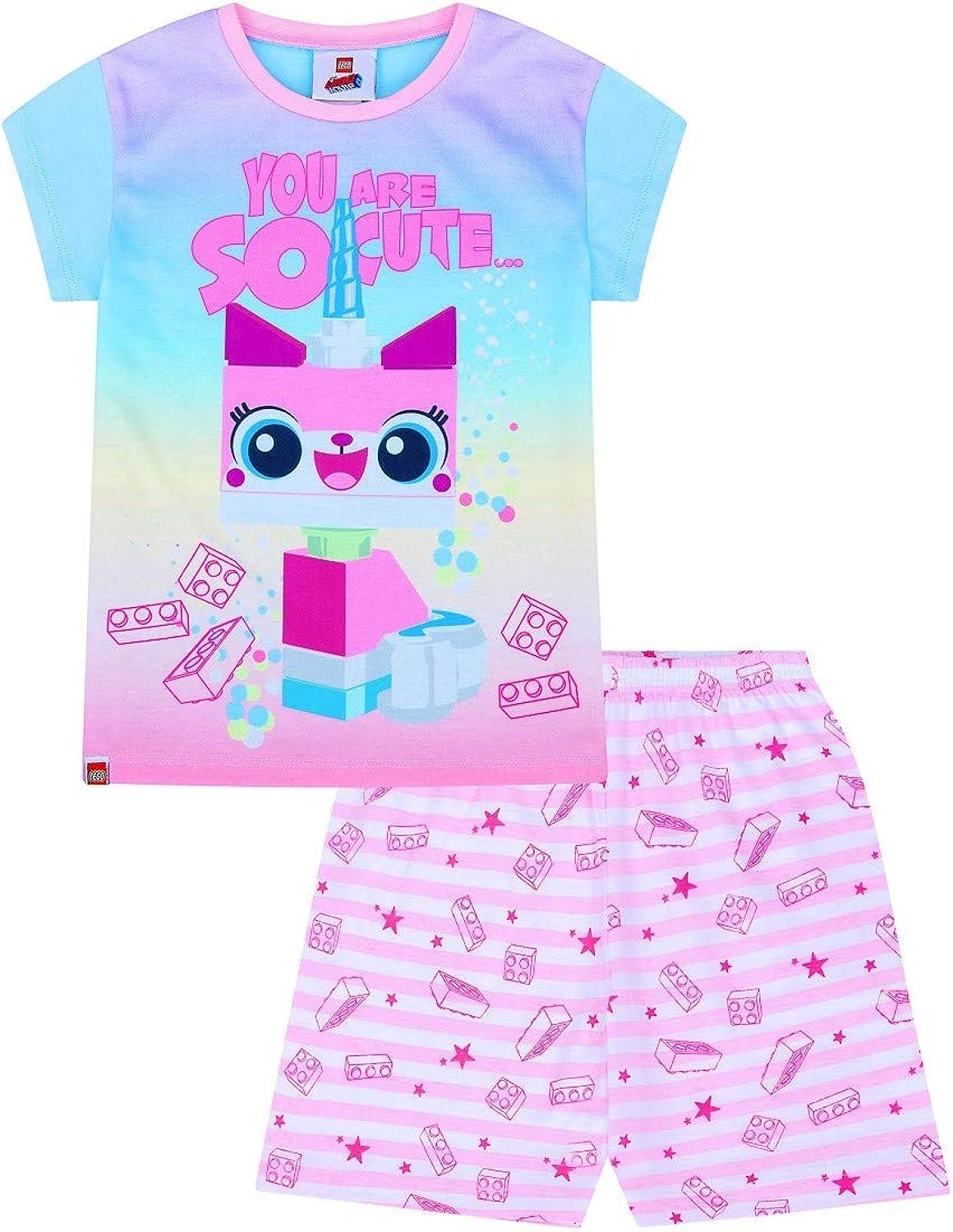 Official Unikitty You are So Cute Short Pink Pyjamas Pj Girls Pjs 5-6 Years