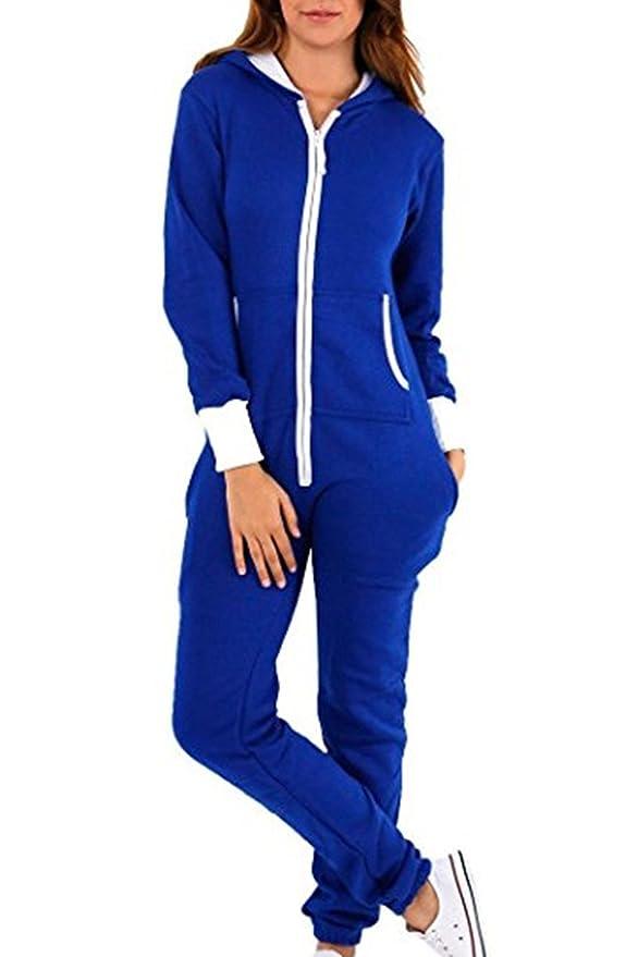 L-Peach Pijama de Una Pieza Mono Onesie Jumpsuit con Capucha para Hombre o Mujer Unisexo Cierra con Cremallera Delantera sin Calzado: Amazon.es: Ropa y ...