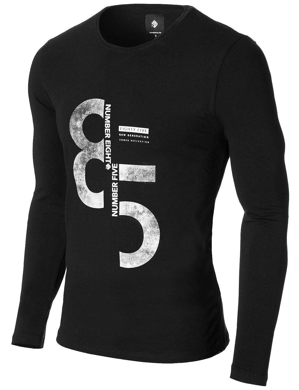 Short Sleeve MOD1012RN Slim Fit Urban Crew Neck MODERNO Mens Graphic T-Shirt