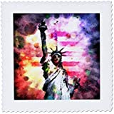 Phil Perkins - USA - Patriotic Lady of Liberty - vintage Statue of Liberty watercolor painting - 25x25 inch quilt... sale off 2017