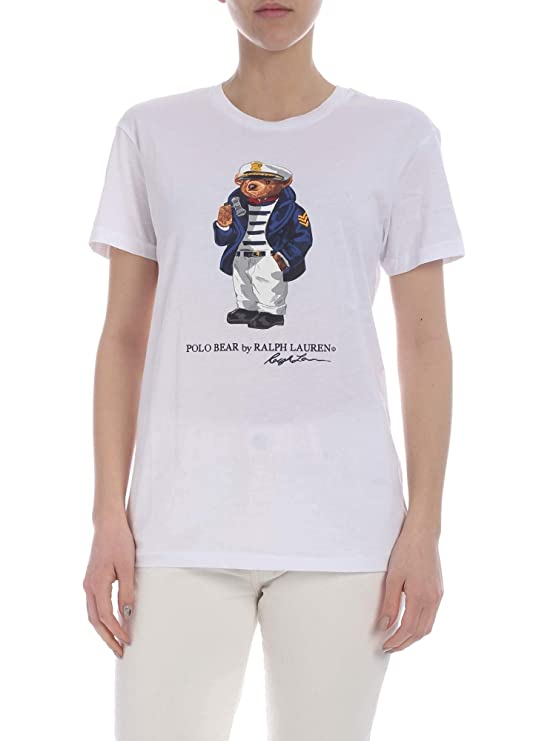 Polo Ralph Lauren T-Shirt Donna White: Amazon.es: Ropa y accesorios