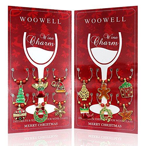 Christmas Wine Glass Charms (Set of 12)