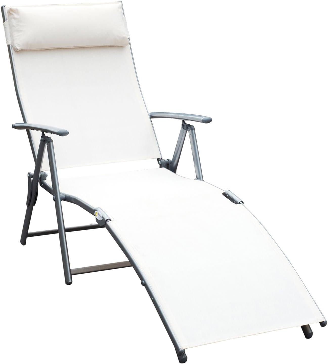 Amazon.com: Silla reclinable plegable para piscina y playa ...