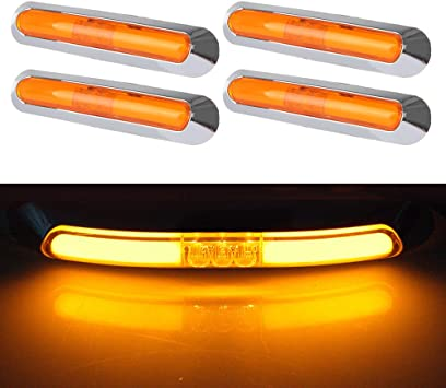 cciyu 4Pcs Side Marker Light Tail Light 12V-24V Sealed Red Light Clearance Lamp Replacement fit for Truck Trailer Van