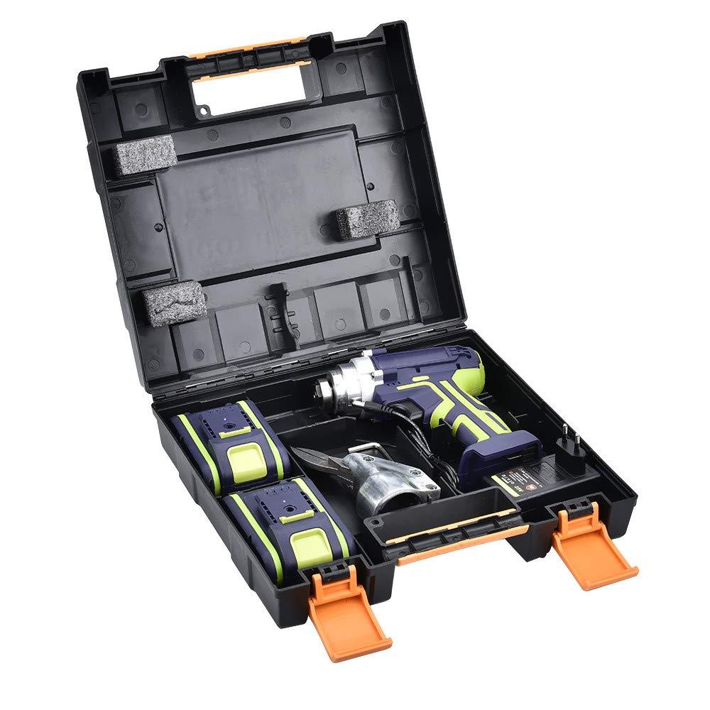kit de corte de metal con 2 bater/ías desmontables de litio SEAAN Tijeras de metal el/éctricas inal/ámbricas de grado industrial,tijeras el/éctricas de litio de mano