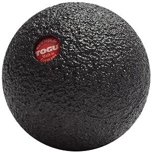 TOGU Faszientraining Blackroll Ball, Schwarz, 12 cm, 410020