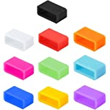 10 pcs Silicone Fasteners for FITBIT Charge/FITBIT Charge HR Wristband