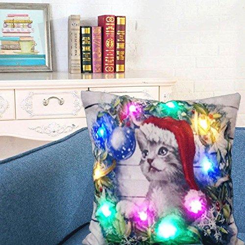 Aeebuy - Funda de cojín con luz LED para sofá, decoración ...