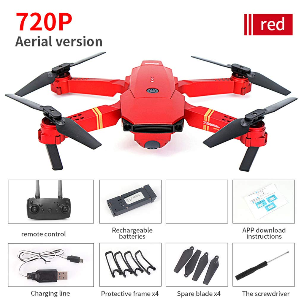 Likero E58 1080P/720P HD 2.0/5.0MP Camera WiFi FPV Foldable Quadcopter,Selfie Pocket RC Quadcopter,Stylish and Handsome Design,Best Gift for Child for Adult (A) by Likero (Image #9)