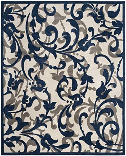 Safavieh Amherst Collection AMT428M Floral Scroll Non-Shedding Stain Resistant Living Room Bedroom Area Rug