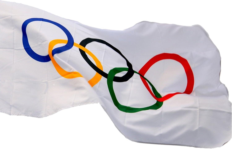 TINUOS Nylon Olympics Flag 3 Feet x 5 Feet