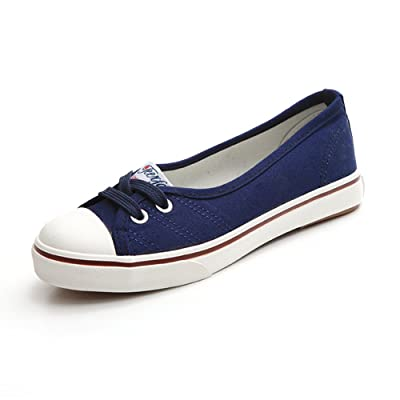 Paul Kevin Women's Casual Breathable Slip-on Canvas Flats Shoe at Amazon Women's Clothing store