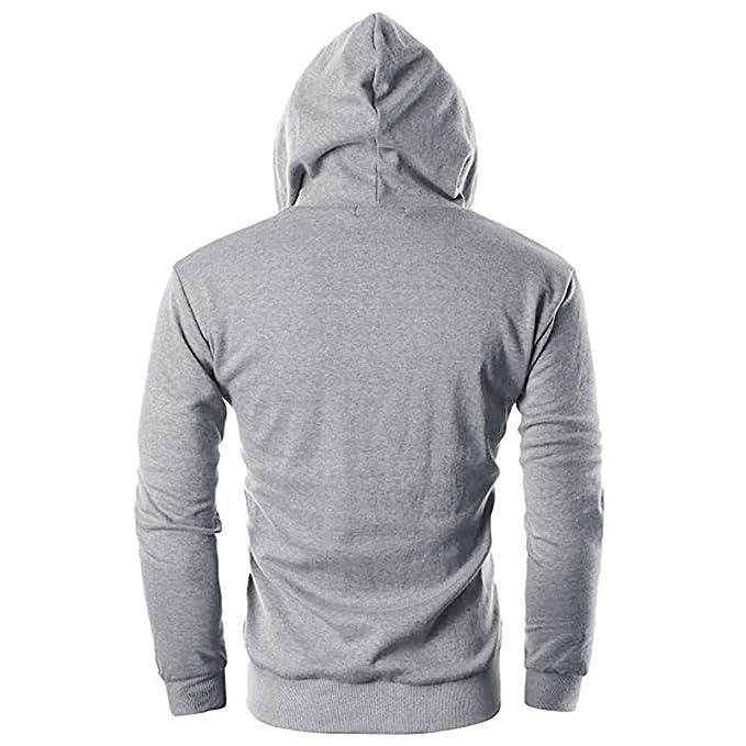 Internet_camisetas de hombre Sudadera con Capucha Casual otoño de los Hombres Outwear Tops Blusa: Amazon.es: Ropa y accesorios