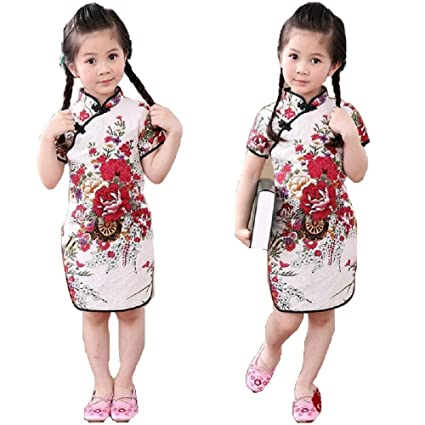 320ae3ccc65 Hooyi Baby Girl's Al Dress New Year Qipao Vintage Chinese Cheongsam ...