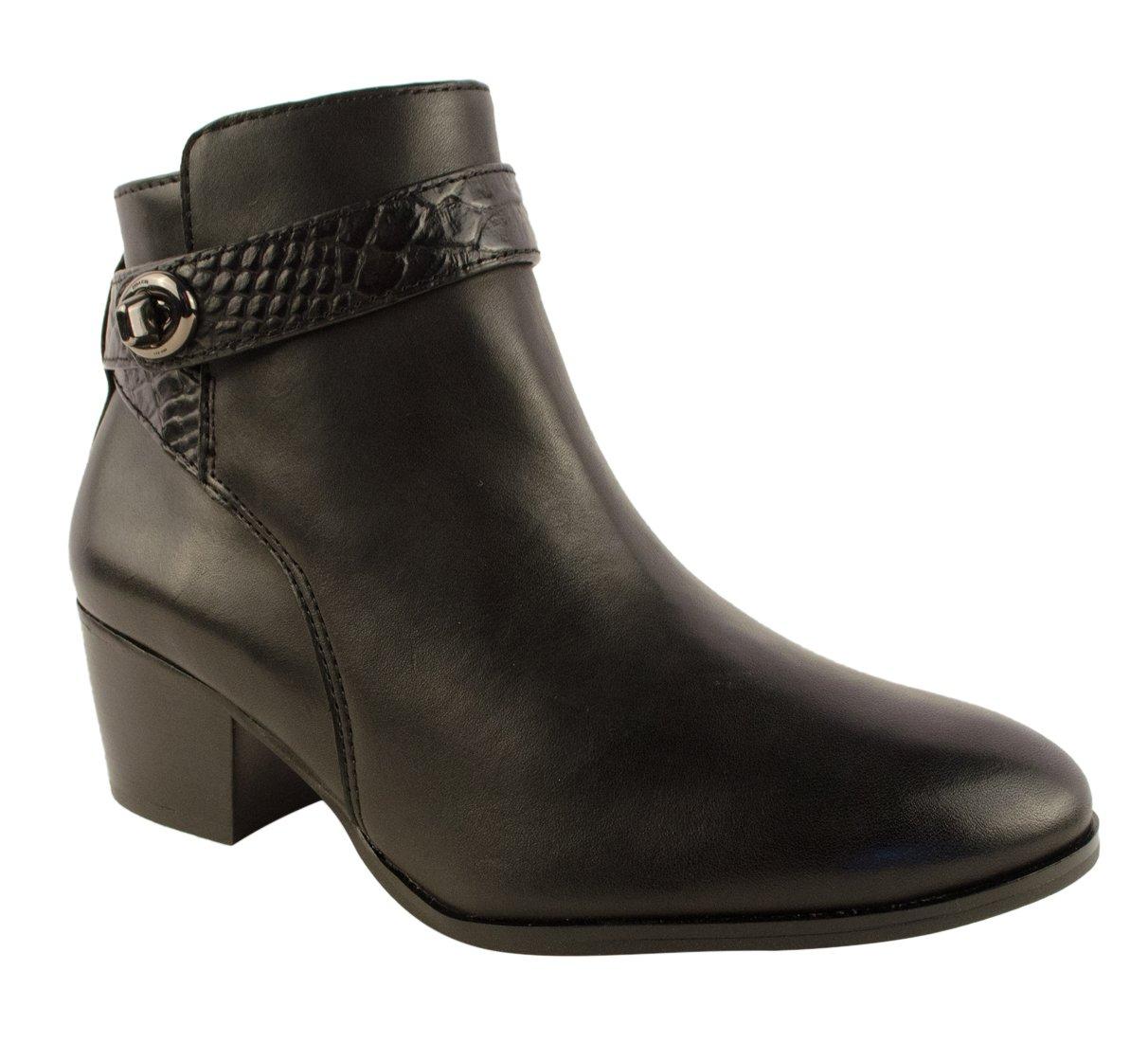 Coach Patricia Women US 6 Black Ankle Boot