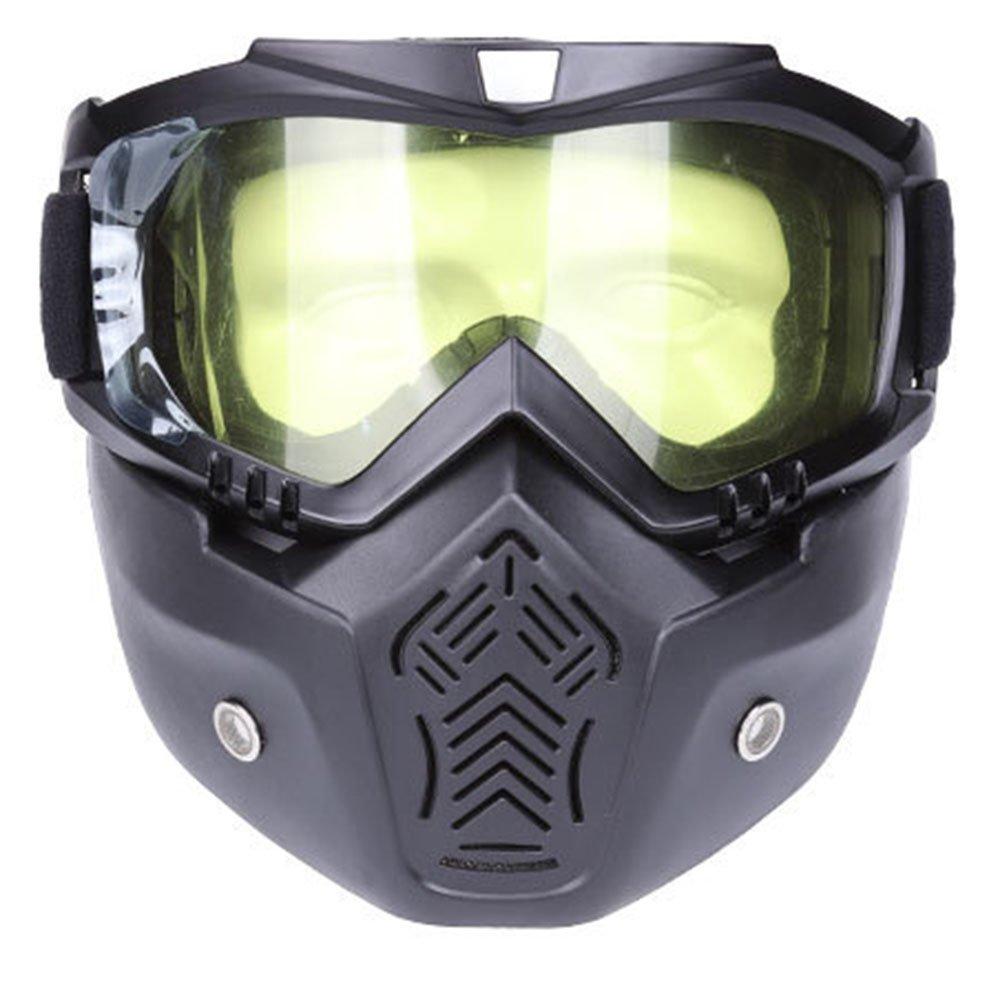 gsporヘルメットスチームパンクヴィンテージゴーグルサングラスアイウェアのアウトドアスポーツモトクロスRacer防風防塵サイクリングRunningゴーグル  B B07DMP5ZD4
