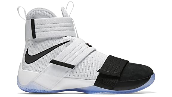 NIKE Men's Lebron Soldier 10 Basketball Shoes, White (10.5)