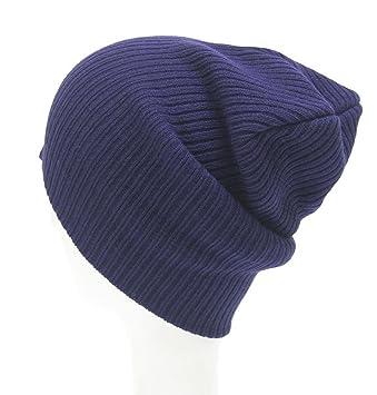 LuckES Crochet Invierno Mujeres Sombrero de Lana Tejer Beanie Warm Caps 1PC  Mujeres de la Manera 700bc41f19c