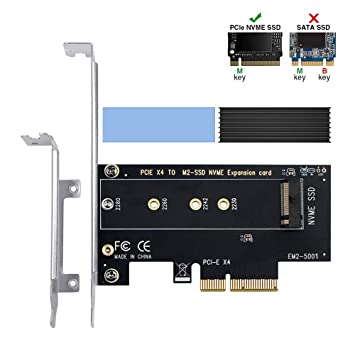 6amLifestyle Disipador M2 Adaptador PCIe NVME SSD (M Key) con ...