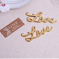 Love Antique Bottle Opener For Wedding Favor (100, Gold)