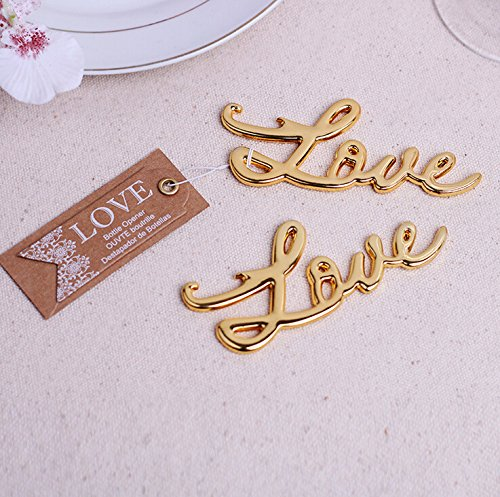Love Antique Bottle Opener For Wedding Favor (100, Gold) by cute rabbit