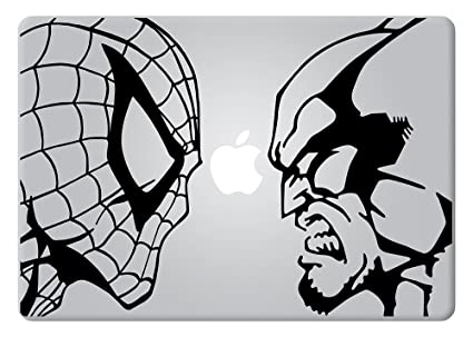 Spider-man vs Wolverine Apple Macbook Decal Vinyl Sticker Apple Mac Air Pro Retina Laptop